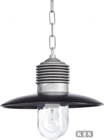 Buitenlamp Hanglamp Ampere Zwart Ruw aluminium KS Verlichting - LiL.nl